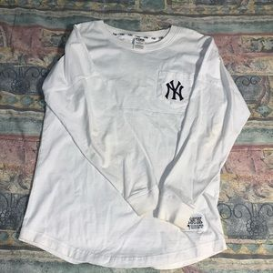 Pink Yankees Long Sleeve